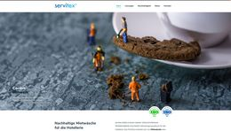 Servitex Website neu Relaunch Marke